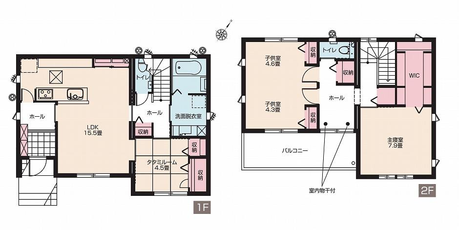 【分譲住宅・建売】スマートハイムプレイス天川大島II No.4(間取図)