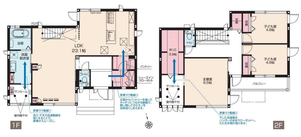 スマートハイムシティ前橋ローズタウン 109区画(間取図)