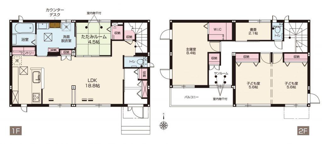 スマートハイムシティ前橋ローズタウン 132区画(間取図)