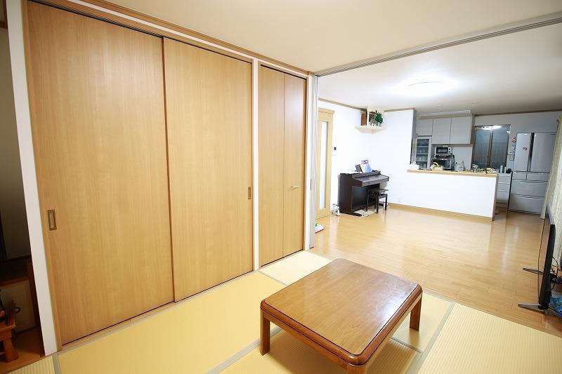 和室とリビングつなげて大空間へ(after)