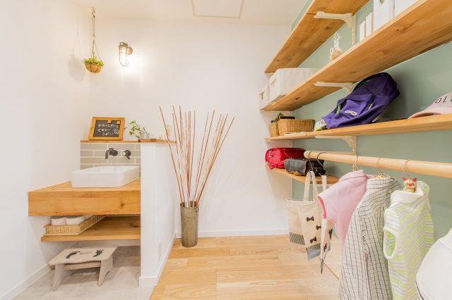 藤岡展示場モデルハウス(グランツーユーJX)洗面室