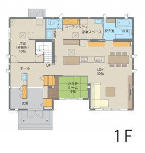 伊勢崎ドマーニ展示場のモデルルーム(ドマーニ)|間取り1階