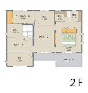 伊勢崎ドマーニ展示場のモデルルーム(ドマーニ)|間取り2階