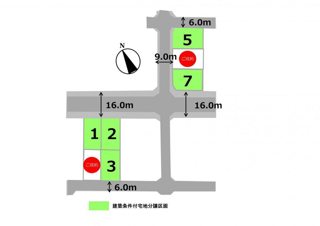 スマートハイムプレイス上里七本木(区画図)